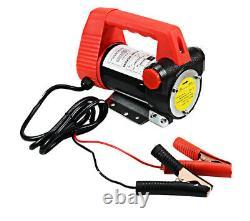 12V Electric Portable Diesel Fluid Extractor Transfer Pump Fuel Full Set V010