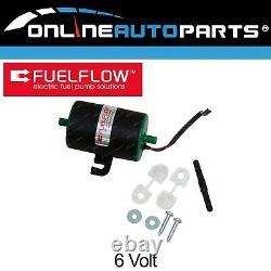 6 volt Electric Fuel Pump suits Vintage + Classic Cars Quiet Universal 4-5psi