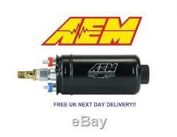 AEM 400LPH Metric Inline High Flow Fuel Pump BRAND NEW GENUINE P/N # 50-1009