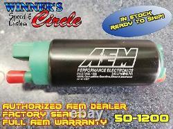 AEM 50-1200 340LPH E85-Compatible High Flow In-Tank Fuel Pumps (Offset Inlet)