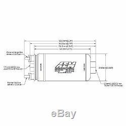 AEM Electronics 380lph Inline External High Flow Pressure Fuel Pump 50-1005