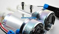 Dual 450LPH E85 Electric Fuel Pump In-Tank Universal racing wrx sti ej20 ej25