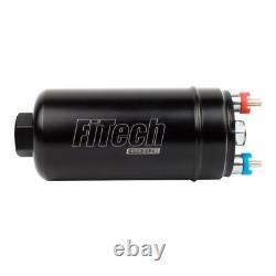FiTech Electric Fuel Pump 50101 Inline Black 255 LPH for Gasoline, E85, Alcohol