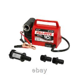 Fill-Rite FR1612 12V 10 GPM Portable Fuel Transfer Pump with Power Cord, Red