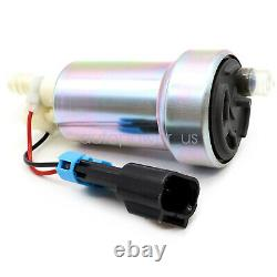 Fits WALBRO E85 RACING FUEL PUMP 450LPH HIGH PRESSURE With INSTALL KIT F90000274