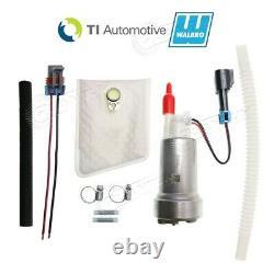 GENUINE WALBRO/TI F90000267 450LPH High Performance E85 Fuel Pump +Flex Hose+Kit