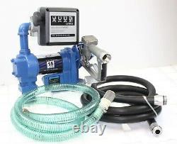Gasoline Anti-Explosive Fuel Transfer Pump 12V DC 15GPM Diesel Gas Refill Kit