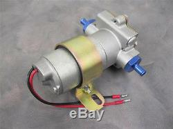High Flow Performance 130 GPH Electric Fuel Pump Universal 3/8 Blue Fittings