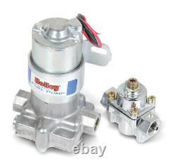 Holley 110 GPH Blue Electric Fuel Pump & Regulator 12-802-1 14psi Max 12 Volt