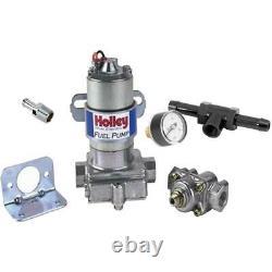 Holley 12-802-1 Blue Electric Fuel Pump/Press Gauge, CHR Fitting