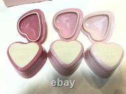 Le Creuset Takashimaya department Store Limited Ramkan Damour Heart Set of 3 New