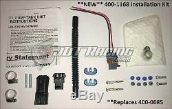 New Genuine Walbro 525lph F90000285 Hellcat Fuel Pump & 400-1168 Install Kit E85