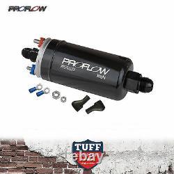 Proflow EFI 380LH 1000HP Fuel Pump Silver Bracket E85 Compliant Bosch 044 style