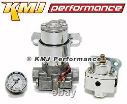 Street/Strip Electric Fuel Pump 115GPH Universal with Regulator & Pressure Gauge