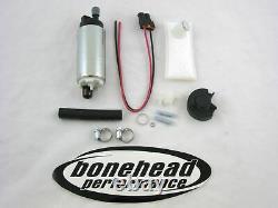 WALBRO 255LPH HP Fuel Pump with Install Kit 1989-1991 Honda Civic & CRX