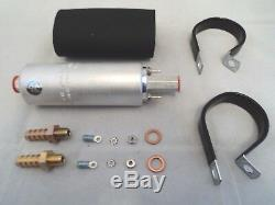 Walbro External In-line GSL392 255lph 5 bar Fuel Pump Upgrade 10mm & Brackets