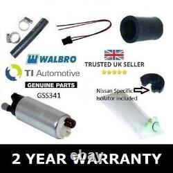 Walbro Tia 255 Fuel Pump Kit For Nissan 200sx Silvia S13 S14 S15 Ca18det Sr20det