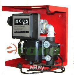 16gpm De L'huile Électrique De Transfert De Gaz Carburant Diesel Pompe Avec Gallon Compteur Mécanique