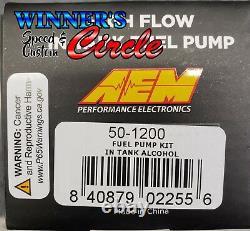 Aem 50-1200 340lph E85-compatible Pompes À Combustible À Débit Élevé À L'intérieur (entrée D'entrée D'arrêt)