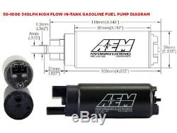 Aem Haut Débit Dans La Cuve De La Pompe À Carburant Kit P / N 50-1000 Électrique