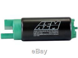 Aem High Flow E85 / Gaz 340lph En Réservoir Pompe À Carburant Kit Décalage D'entrée P / N50-1200