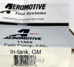 Aeromotive 11569 340 Lph Stealth In-tank E85 Pompe À Carburant Chevy Pontiac Center Inle