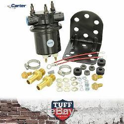 Carter 4601 Pompe Électrique Noire Carburant P4601hp Holley Alternative 100gph 15 Psi