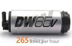 Deatschwerks Dw65v 265lph Pompe À Carburant Dans Le Réservoir + Kit D'installation Vwithaudi 1.8t À Traction Avant