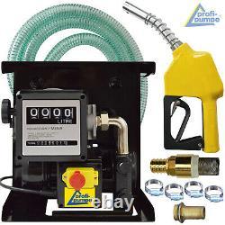 Diesel Transfer Pump Auto Priming Fuel Extractor Fluid Oil Bio Electric 220 240v