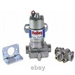Holley 12-802-1 Pompe De Carburant Électrique Bleue Et Jauge De Pression, Raccord Chr