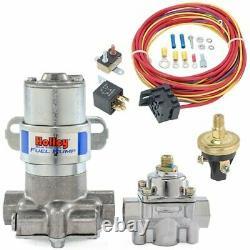 Holley 12-802-1k1 Blue Max Pressure Régulateur De Pompe À Combustible Électrique Et Kit De Câblage 11