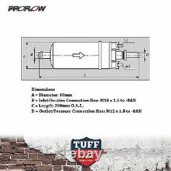 Proflow Efi 380lh 1000hp Pompe À Carburant Support D'argent E85 Style Bosch 044