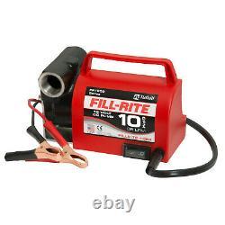 Rite De Remplissage Fr1612 Pompe De Transfert De Carburant Portable 12v 10 Gpm Avec Cordon D'alimentation, Rouge