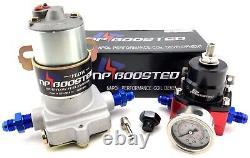 Salut Flow Performance Pompe À Carburant Électrique 140gph Régulateur - Jauge De Pression V8 350