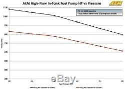 Véritable Aem 50-1000 340lph Intank Efi Pompe À Carburant Avec Passoire Et Trousse D'installation