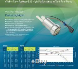 Véritable Walbro 450lph Haute Performance Pompe À Essence + Kit F90000267 E85 Nouveau Tia485-2