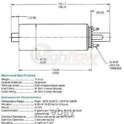 Véritable Walbro/ti Gsl391 Pompe À Carburant Efi 190lph Ext Inline + Kit D'installation 400-939