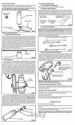 Walbro Gss341 Pompe À Carburant 255 Lph Haute Pression Électrique + Kit 400-766
